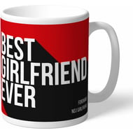 Personalised Manchester United Best Girlfriend Ever Mug