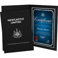 Personalised Newcastle United FC No1 Fan Certificate Folder