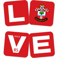 Personalised Southampton FC Love Coasters (x4)