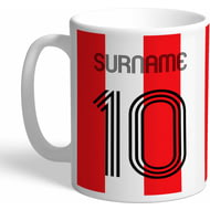 Personalised Southampton Retro Shirt Mug