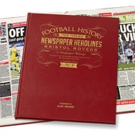 Personalised Bristol Rovers Football Newspaper Book Leather