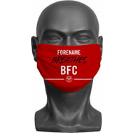 Personalised Brentford FC Breathes Adult Face Mask
