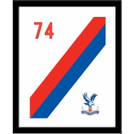 Personalised Crystal Palace FC Stripe Framed Print