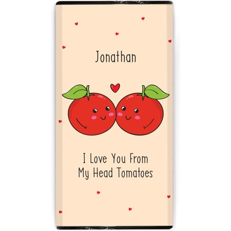Personalised From My Head Tomatoes Chocolate Bar