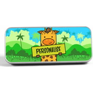 Personalised Kids Giraffe Pencil Tin