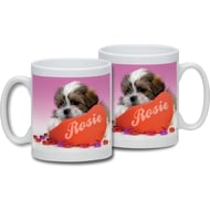 Personalised Love Puppy Ceramic Mug