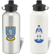 Personalised Sheffield Wednesday Player Figure Aluminium Sports Water Bottle