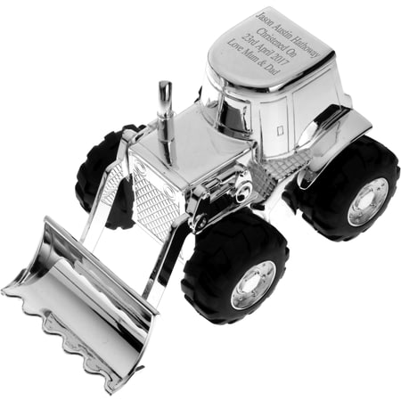 Personalised Engraved Silver Plated Digger Money Box