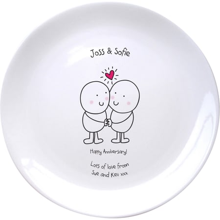 Personalised Chilli & Bubble's Anniversary Plate
