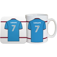 Personalised Scunthorpe United FC Shirt Mug & Coaster Set