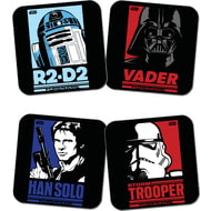 Personalised Star Wars Pop Art Coasters 4 Pack