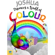Personalised Name Discovers A World Of Colour Childrens Rhymes Book