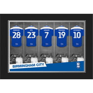 Personalised Birmingham City FC 9x6 Dressing Room Shirts Photo Folder
