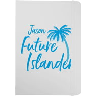 Personalised Blue Future Islander White Notebook