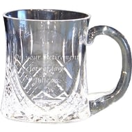 Personalised Cut Crystal Glass Pint Tankard