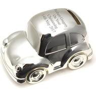 Personalised Engraved Silver Car Money Box