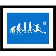 Personalised Huddersfield Town AFC Evolution Framed Print