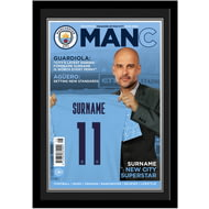 Personalised Manchester City FC Magazine Front Cover Photo Framed
