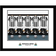 Personalised Newcastle United FC Legends Dressing Room Shirts Framed Print