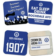 Personalised Rochdale AFC Coasters