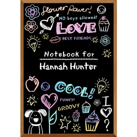 Personalised School Blackboard For Girls Notebook