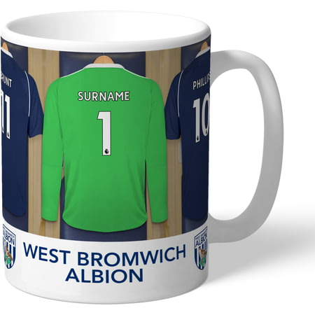 Personalised West Bromwich Albion FC Goalkeeper Dressing Room Shirts Mug