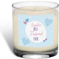 Personalised Best Ever Gingham Vanilla Scented Candle