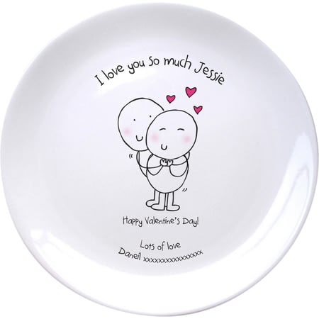 Personalised Chilli & Bubble's Valentines Plate