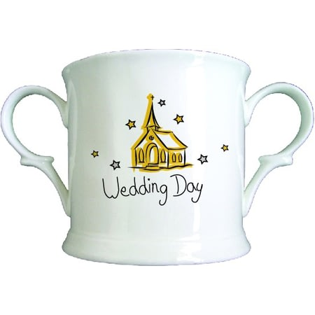 Personalised Church Wedding Day Bone China Loving Cup