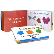 Personalised First Steps Colours Board Book For Toddlers