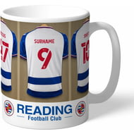 Personalised Reading FC Dressing Room Shirts Mug