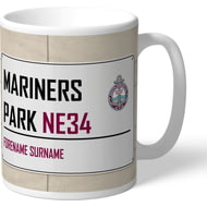 Personalised South Shields FC Mariners Park Street Sign Mug