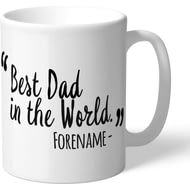 Personalised Swansea City Best Dad In The World Mug