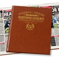 Personalised Peterborough United Football Newspaper Book - Leatherette Cover