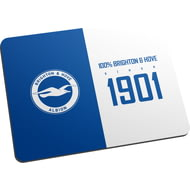 Personalised Brighton & Hove Albion FC 100 Percent Mouse Mat