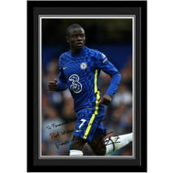 Personalised Chelsea FC Kante Autograph Photo Framed