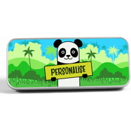 Personalised Kids Panda Pencil Tin