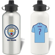 Personalised Manchester City FC Shirt Aluminium Sports Water Bottle