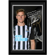Personalised Newcastle United FC Ritchie Autograph Photo Framed