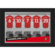 Personalised Sunderland AFC 9x6 Dressing Room Shirts Photo Folder