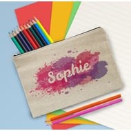 Personalised Splash Pencil Case With Pencils