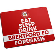 Personalised Brentford FC Eat Sleep Drink Mouse Mat