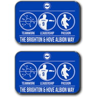 Personalised Brighton & Hove Albion FC Way Rear Car Mats