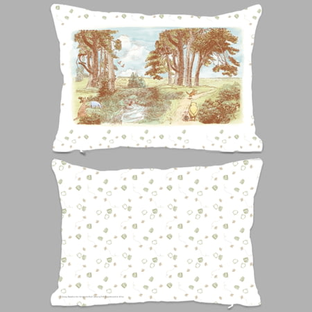 Personalised Winnie The Pooh Woodland Scene Rectangle Cushion - 45x30cm