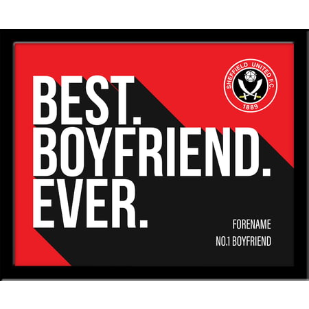 Personalised Sheffield United Best Boyfriend Ever 10x8 Photo Framed