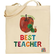 Personalised Very Hungry Caterpillar Best Teacher Tote Bag