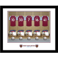 Personalised West Ham United FC Dressing Room Shirts Framed Print