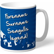 Personalised Brighton & Hove Albion FC Legend Mug
