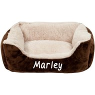 Personalised Brown Cushioned Pet Bed