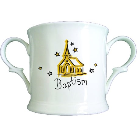 Personalised Church Baptism Bone China Loving Cup
